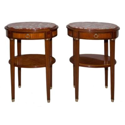 Pair Of Side Tables Louis XVI Style Late Nineteenth Time