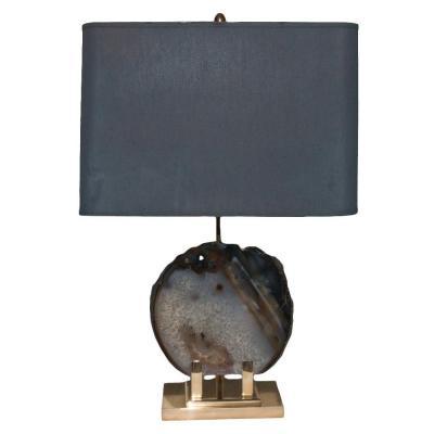 Gilt Bronze Lamp Signed Willy Daro 1970s