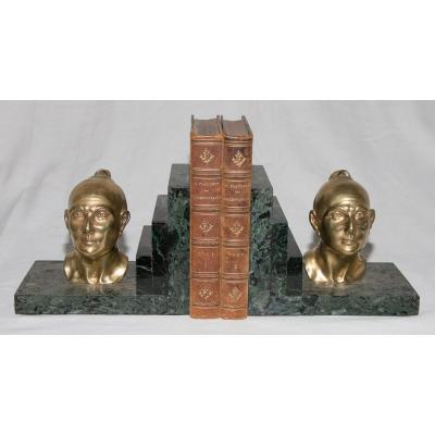 Bookends Signed Jamar Art Deco Period