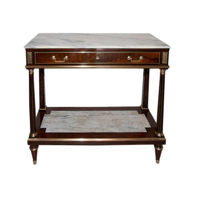 Mahogany Console Louis XVI Period Late Eighteenth Century