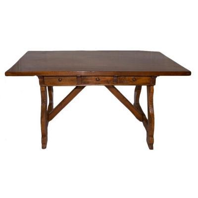 Table Bureau En Noyer  Espagne Fin XVIIe Siècle