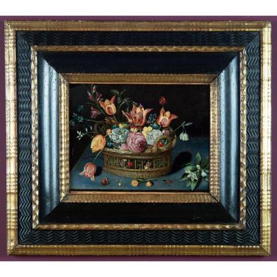 Corbeille de fleurs atelier de Jan Brueghel le Jeune 17 è