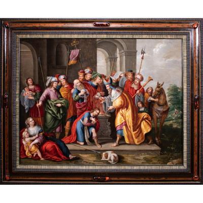 Samuel donne à David l'onction royale , attribué à Peter Sion , 1667