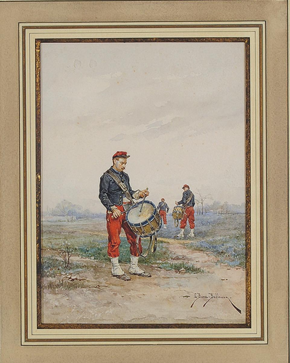 Les tambours par Etienne-prosper Berne-Bellecour