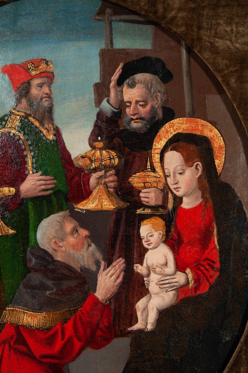 L'adoration des mages , Espagne vers 1520 .-photo-2