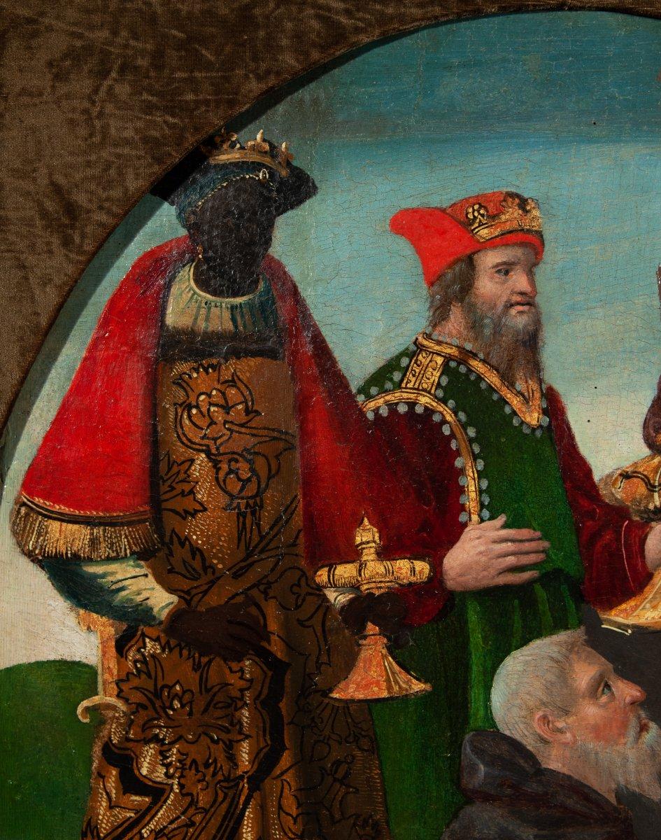 L'adoration des mages , Espagne vers 1520 .-photo-3