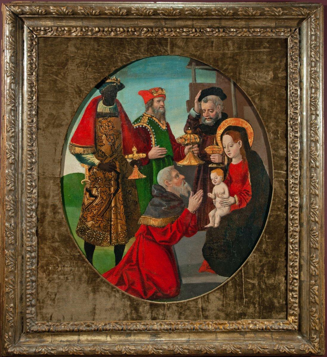 L'adoration des mages , Espagne vers 1520 .