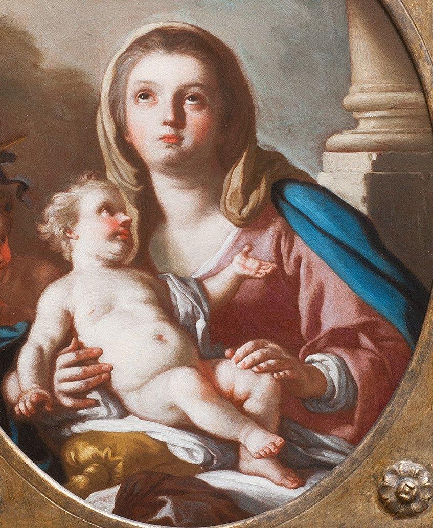 Vierge à l'Enfant avec Saint Jean Baptiste par Francesco de Mura Naples 18 è-photo-2