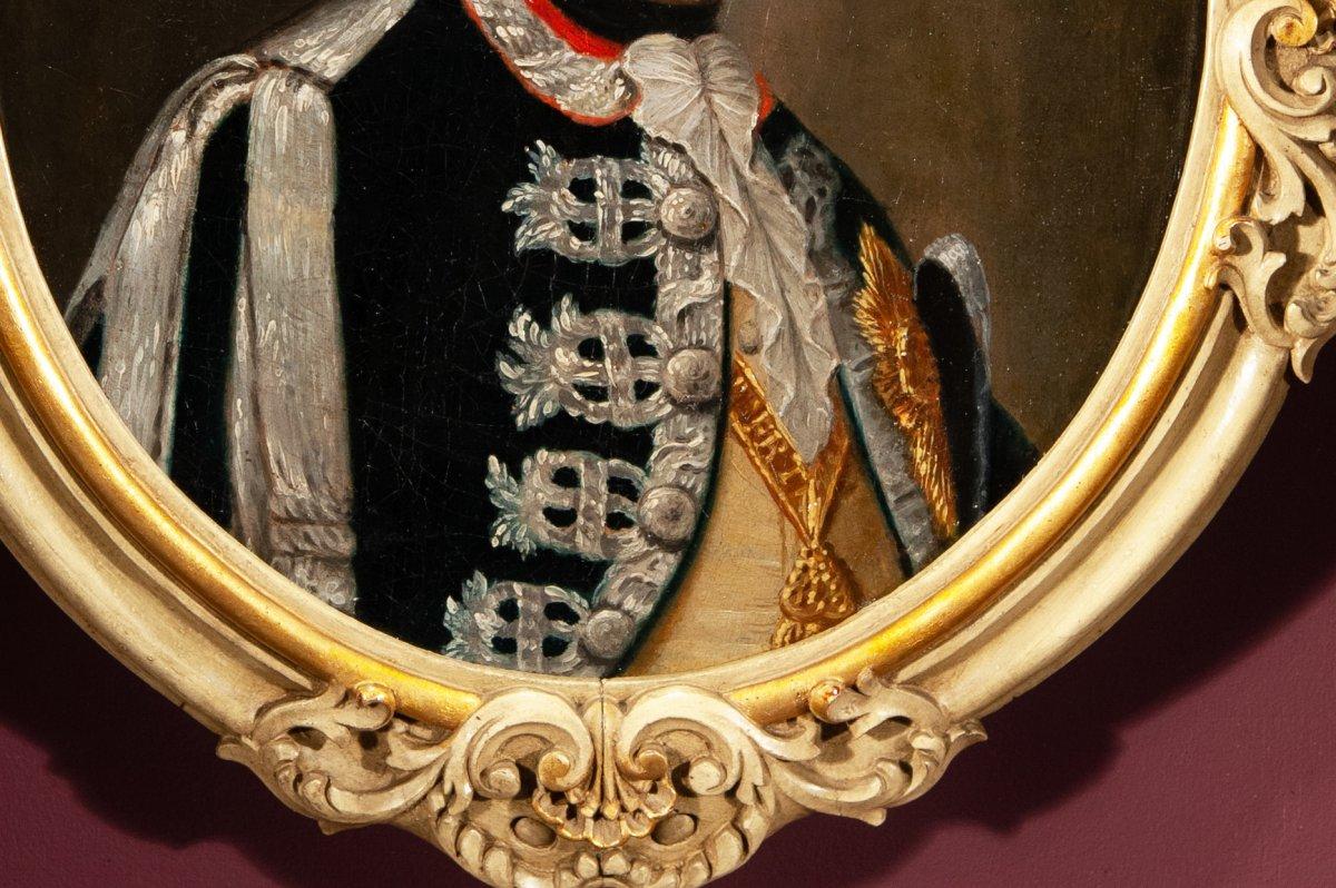 Portrait de Charles Emmanuel IV de Savoie , fin du 18 è siècle-photo-2