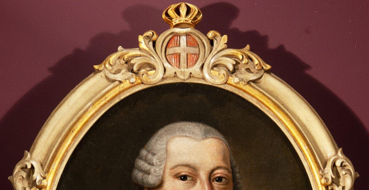 Portrait de Charles Emmanuel IV de Savoie , fin du 18 è siècle-photo-3