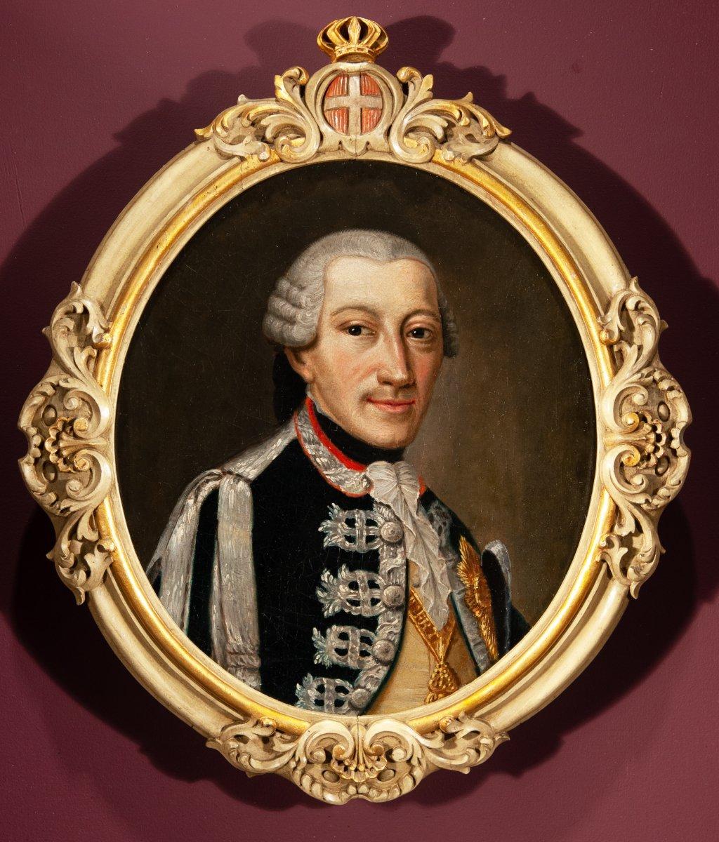 Portrait de Charles Emmanuel IV de Savoie , fin du 18 è siècle