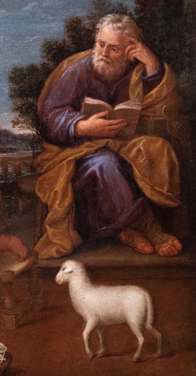 La Sainte Famille et Saint Jean-Baptiste , école bolognaise 17 è siècle