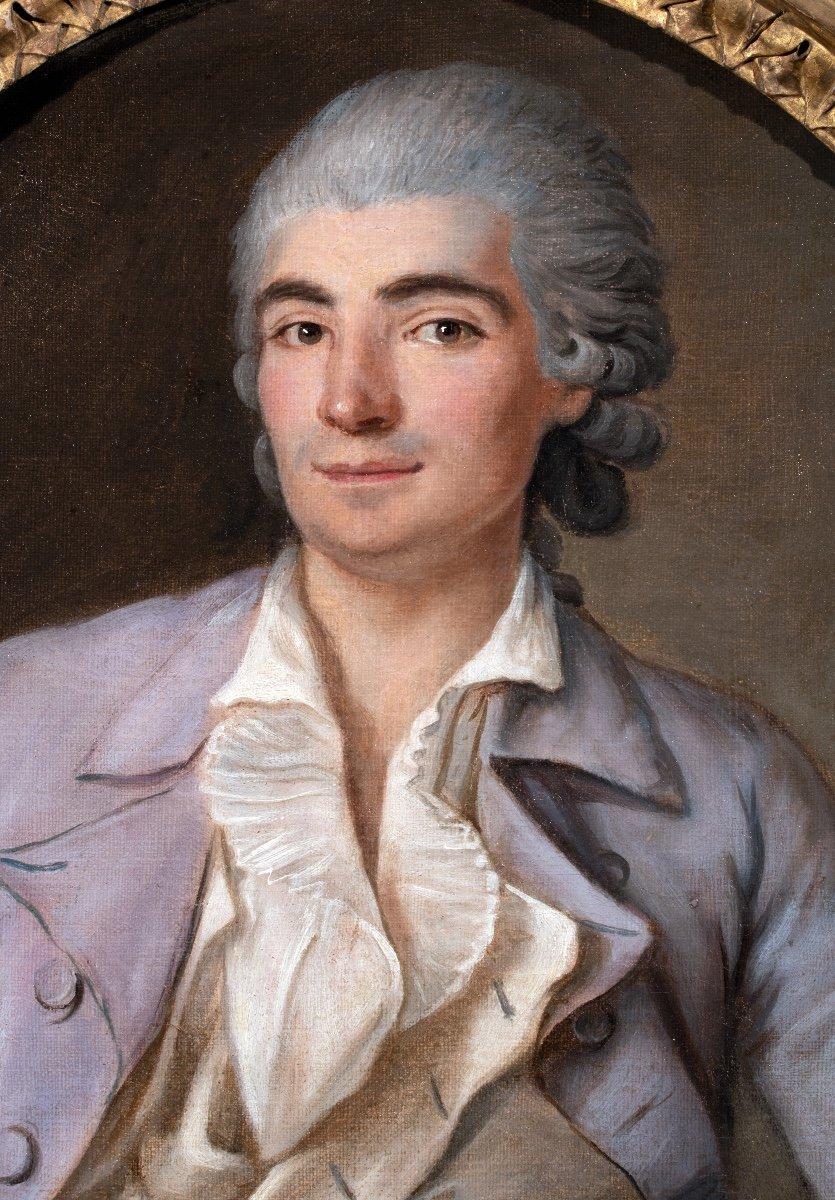 Portrait de jeune homme à la lettre , époque Louis XV