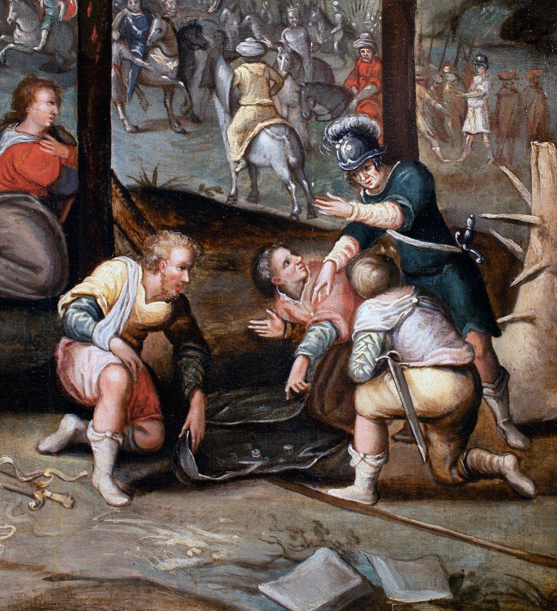 Crucifixion , école flamande fin du 16è siècle -photo-4