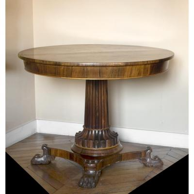 Pedestal Masonic In Early 19th Rosewood