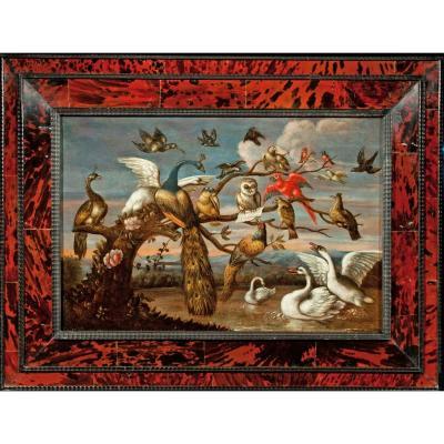 Le concert des oiseaux , entourage de Van Kessel , début 18 è
