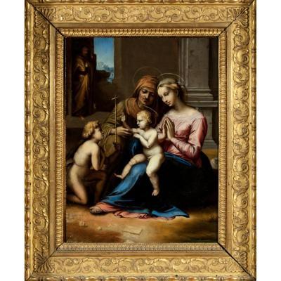 Notre Dame De l'Amour Divin , Italie Début 17 è Siècle