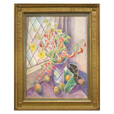 Bouquet de fleurs aquarelle de Marevna 1937