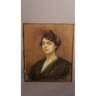 Pastel - E. Tapissier (1861-1943) - Début XXe S.