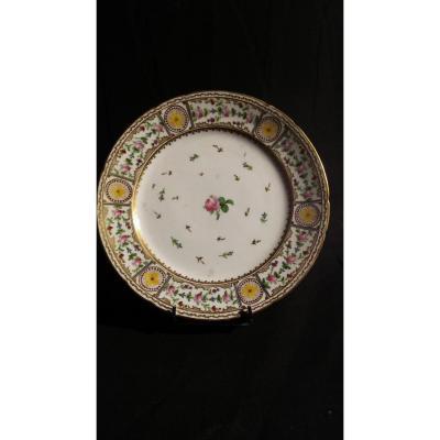 Assiette- Porcelaine De Bordeaux- Fin XVIIIIe S.