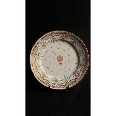 Assiette- Porcelaine De Bordeaux- Fin XVIIIe S.