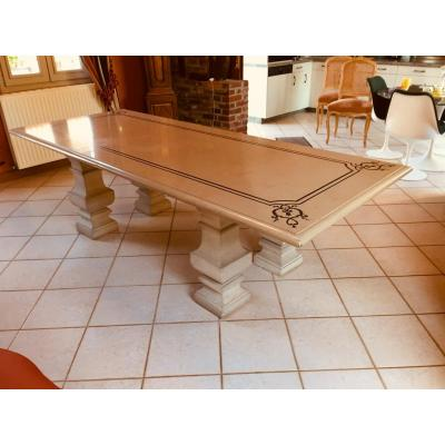 Large Table In Marble And Stone