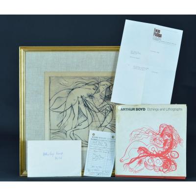 Arthur Boyd Gravure Originale 1968 Londres Gallery Autralian Modern Art Book