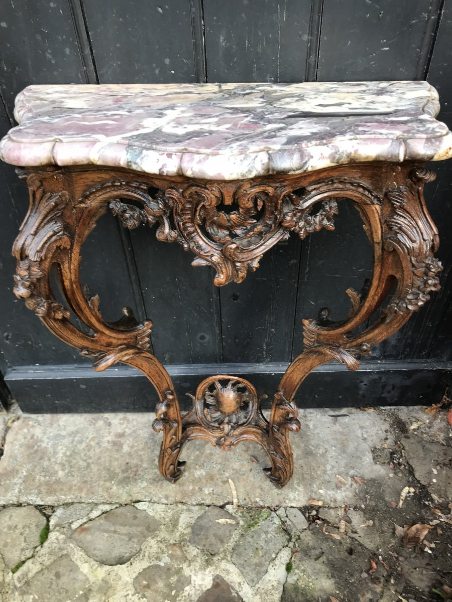 Console L XV Of Woodwork In XVIIIth Century Oak