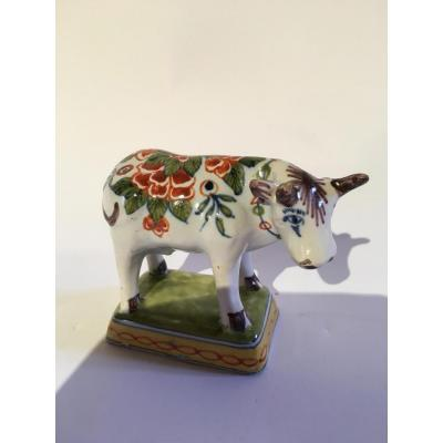 Vache en faience de Delft