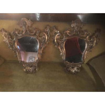 Paire De Miroirs Italien
