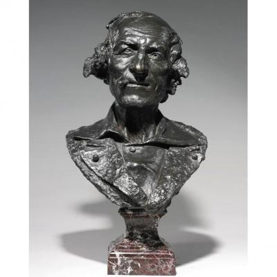 """Jean Baptiste Carpeaux, Bronze Bust Entitled """"le Fumeur"""" (""""the Smoker""""), Signed And Dated"""