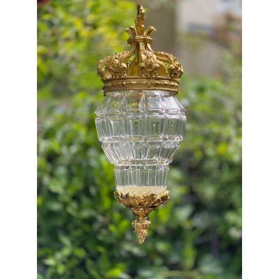 Lanterne Versailles en bronze doré, marqué DH pour Henry Delisle de la Maison Delisle, Paris