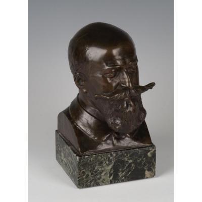 Jules-Louis Rispal (1871-1910), buste en bronze représentant Camille Cousteau