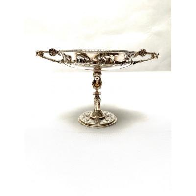 A French 19th Century Silvered Bronze Tazza By Henry Cahieux And Ferdinand Barbedienne