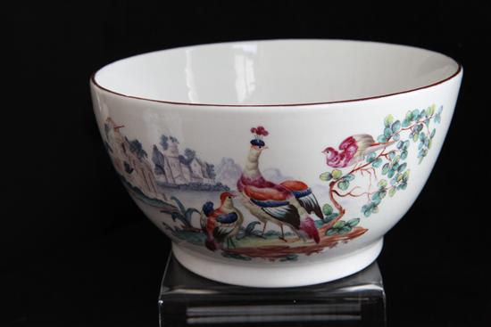 Bowl Polychrome Decor Birds