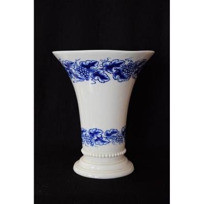 Vase Tournai Bleu Et Blanc
