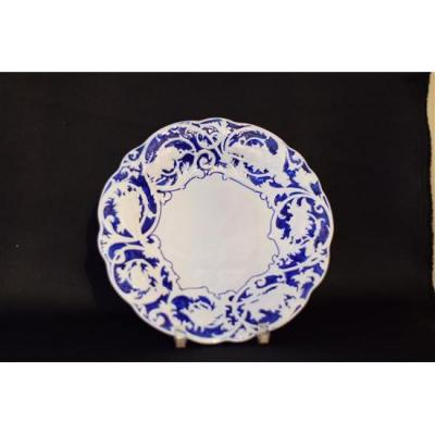 Blue And White Hunting Decor Plate