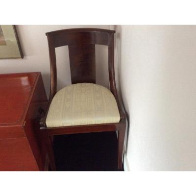 Série de huit chaises en acajou