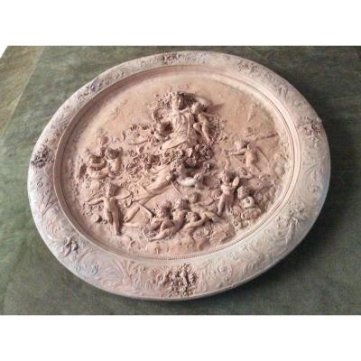 Tondo Terracotta 19th Century