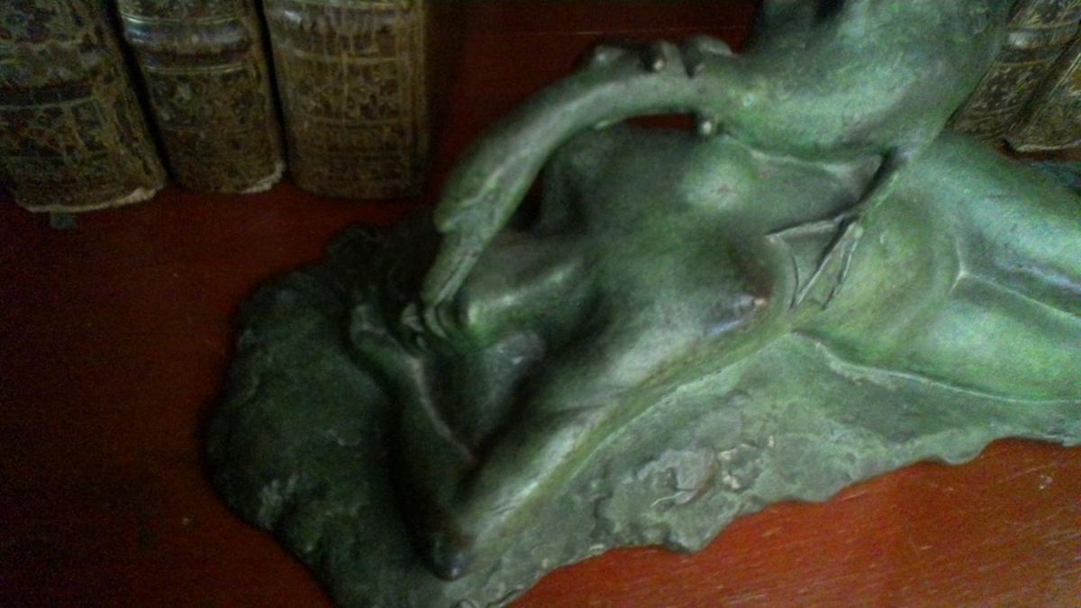 Bronze Léda Et Le Cygne -photo-2