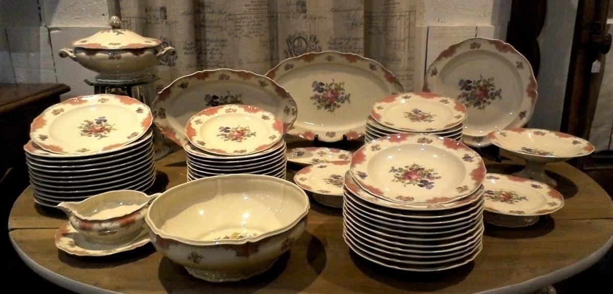 Service De Table Porcelaine De Limoges 58 Pièces