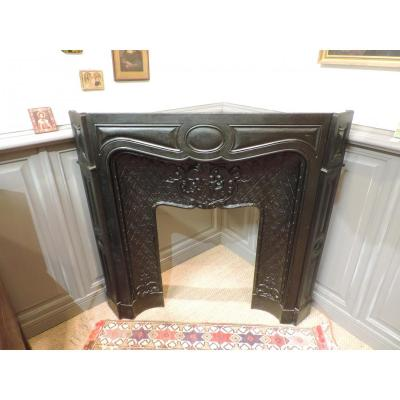 Shrinking Fireplace Cast Louis XV Style