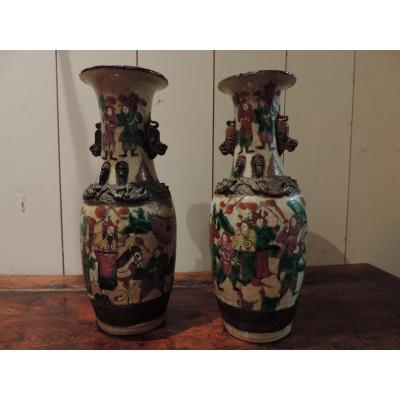 Paire De Vases Nankin