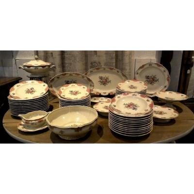 Limoges Porcelain Tableware 58 Pieces