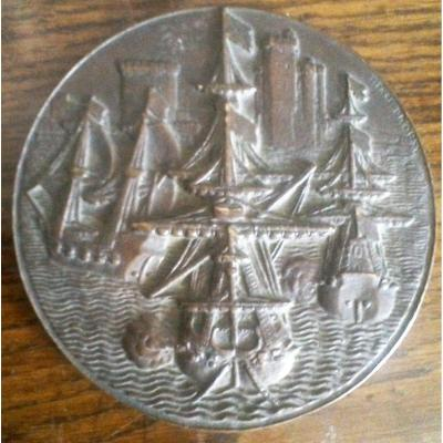 Bronze Medal Of La Rochelle By Dropsy