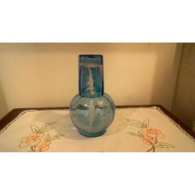 Carafe et verre émaillé Mary Grégory