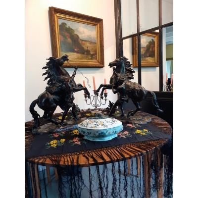 """Bronze important groupe """"des chevaux de Marly"""""""