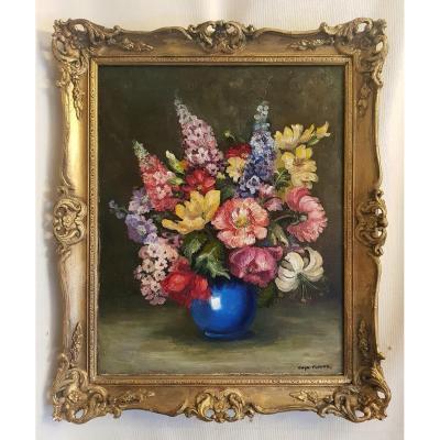 Oil On Canvas - Gwyn Flower - Still Life - 20th