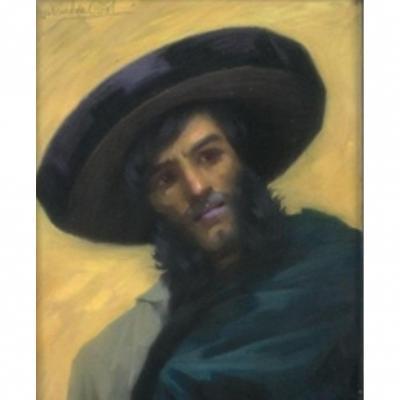 Pastel Portrait d'un Hassidim