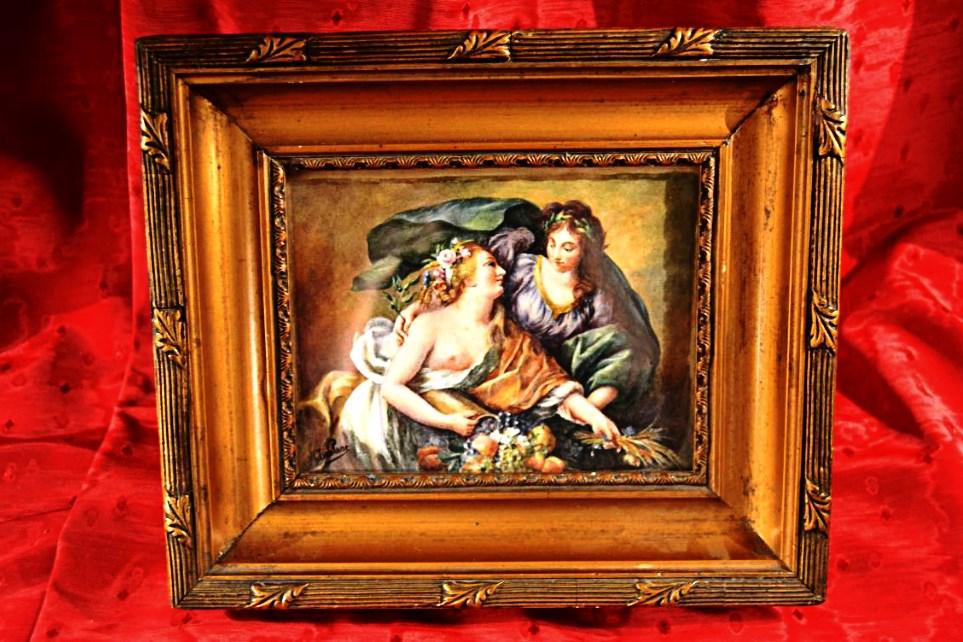 """Aquarelle d'Aprés """" Elisabeth Vigné Le Brun"""", XIX eme"""